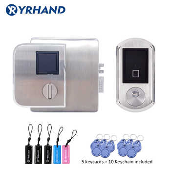 Waterproof Fingerint Electronic Door Lock IC card double side Access reader lock For Metal gate lock - DISCOUNT ITEM  29% OFF All Category