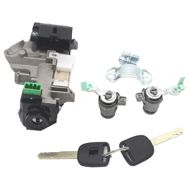 for 02-06 Honda CRV Complete Set Ignition Switch Cylinder Door Lock with 2x Keys 48 Chip