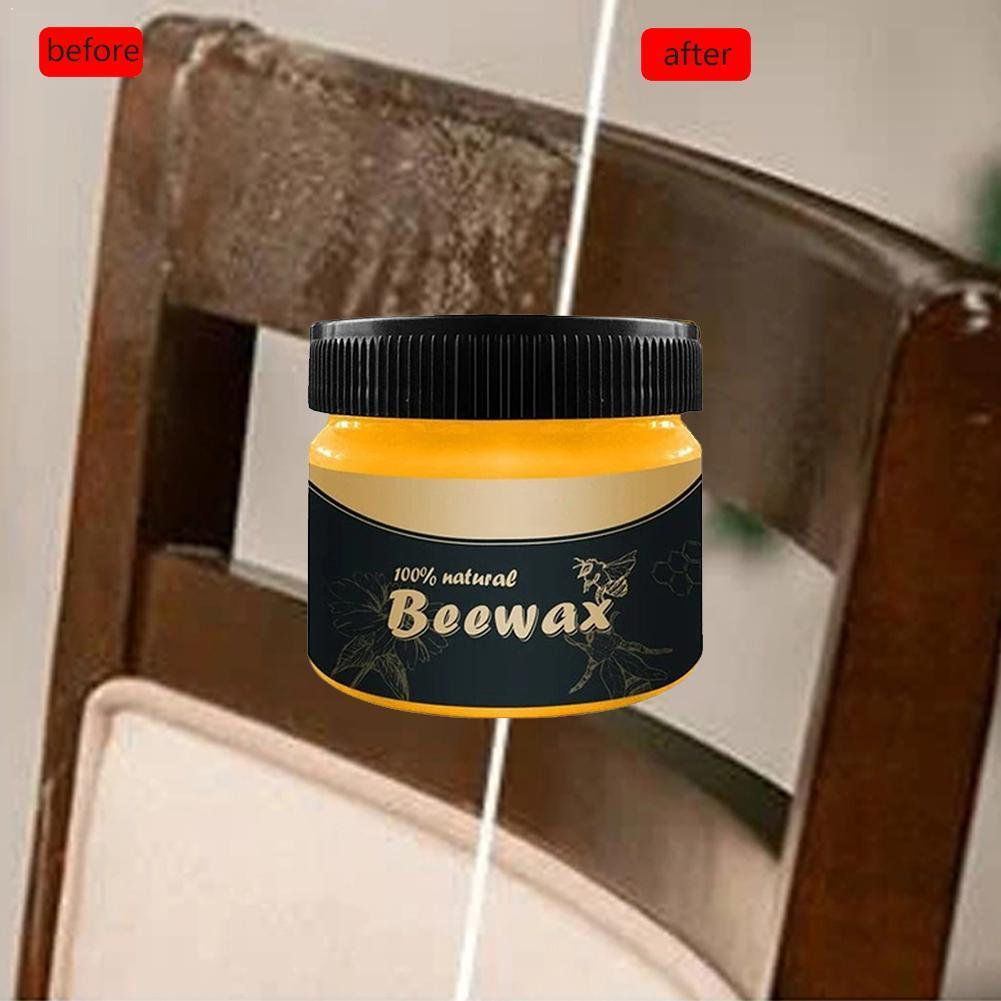 Pure Beeswax Honey Wax Wood Furniture Floor Maintenance Wax Beewax Wood Tool Working Polishing & Waxing Wood Care Wax Spong O9M5
