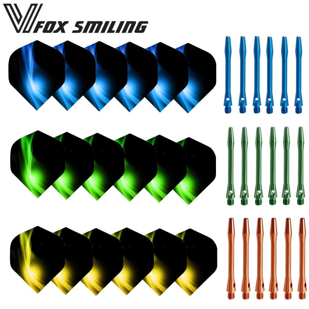 New Aluminium Dart Shafts And Popular Nice Pattern Darts Flights Dart Accessories For Soft And Steel Darts