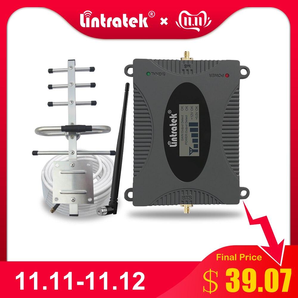 Lintratek Puissant GSM Répéteur 900 MHz LCD Affichage GSM Cellulaire Signal Booster UMTS 900 MHz Mini Téléphone Amplificateur MISE À JOUR #2017