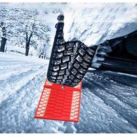 2PCS Universal Rubber Foldable Car Wheel Anti-Skid Pad Folding Skid Plate Tire Traction