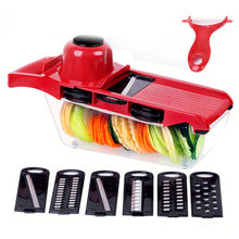 Multifunctional Stainless Steel Vegetable Cutter Mandoline Slicer Fruit Potato Peeler Carrot Cheese Grater Kitchen Accessories multifunctional mandoline slicer manual drum vegetable shredder potato julienne carrot cheese grater round stainless steel blade