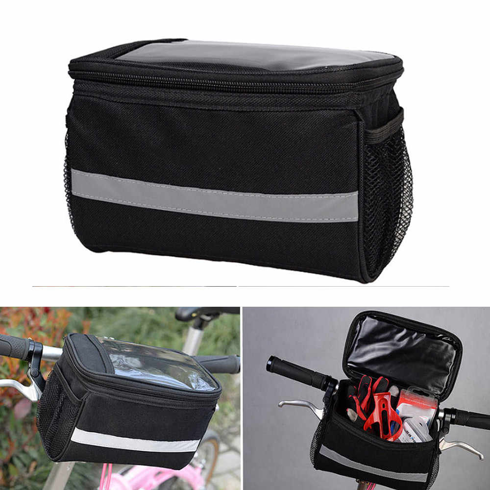 1PC Bicycle Bag on the handlebars Road bike Basket Cycling Reflective Bags   tu