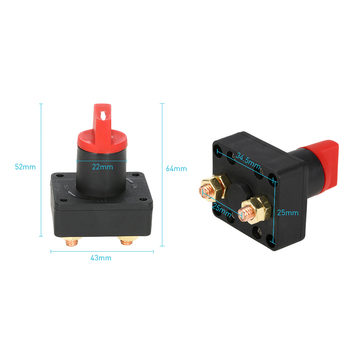 Car Truck Boat Camper 100A Battery Isolator Disconnect Cut Off Kill Switch for bilge pump applied in Car RV boat yacht image