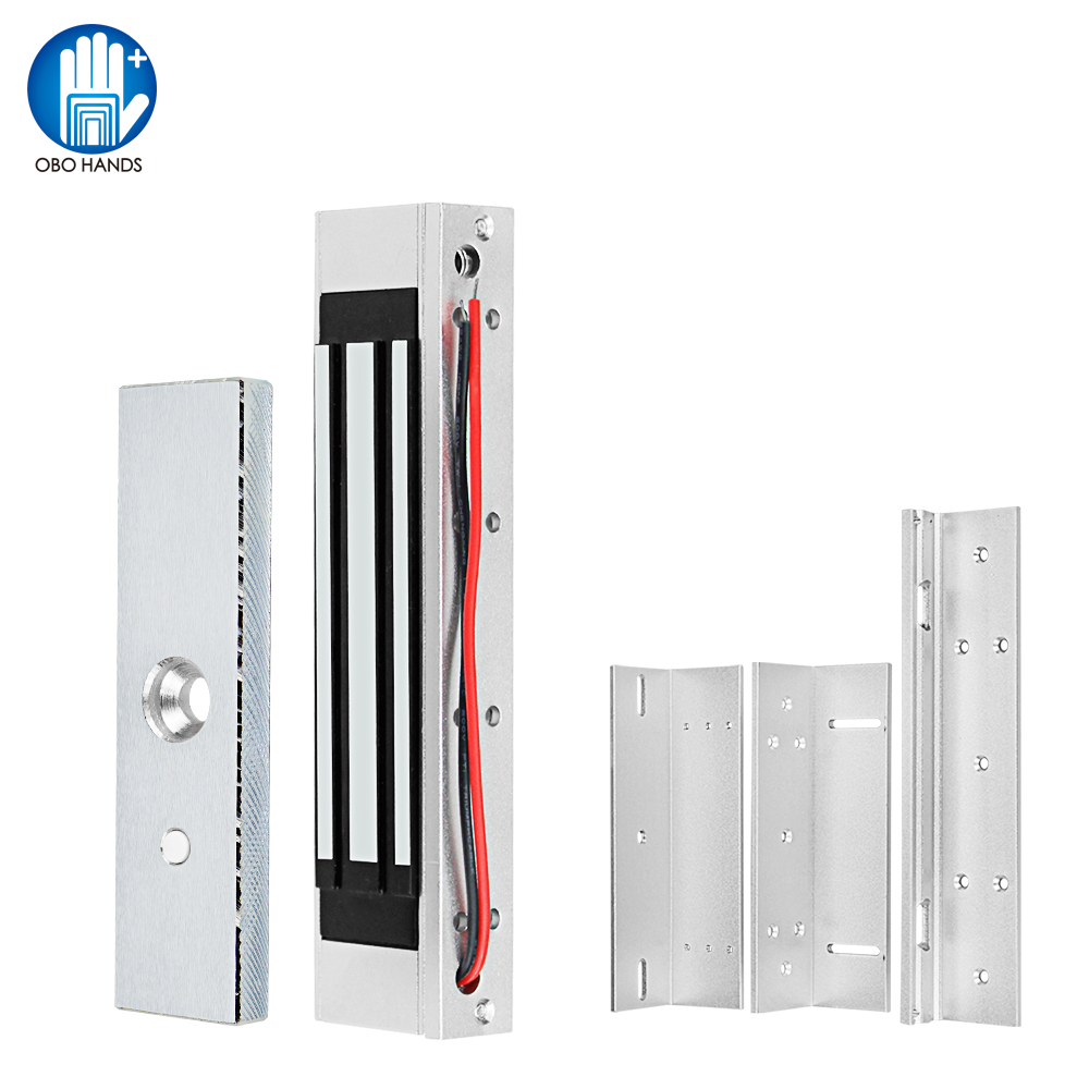Waterproof 180KG/350lbs Electric Magnetic Lock DC12V Electromagnetic Locks ZL Bracket For Electronic Door Access Control System
