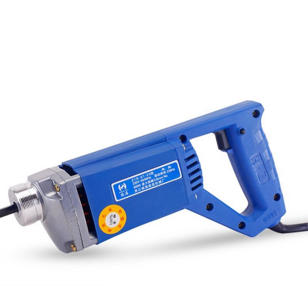 Electrical 220V Portable Concrete Vibrating Rod 800W 1300W Construction Tool Small Vibrator Plug-in Vibrator Building Tools