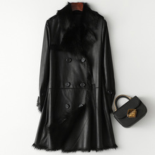 Natural Real Fur Coat Female Genuine Leather Jacket Autumn W