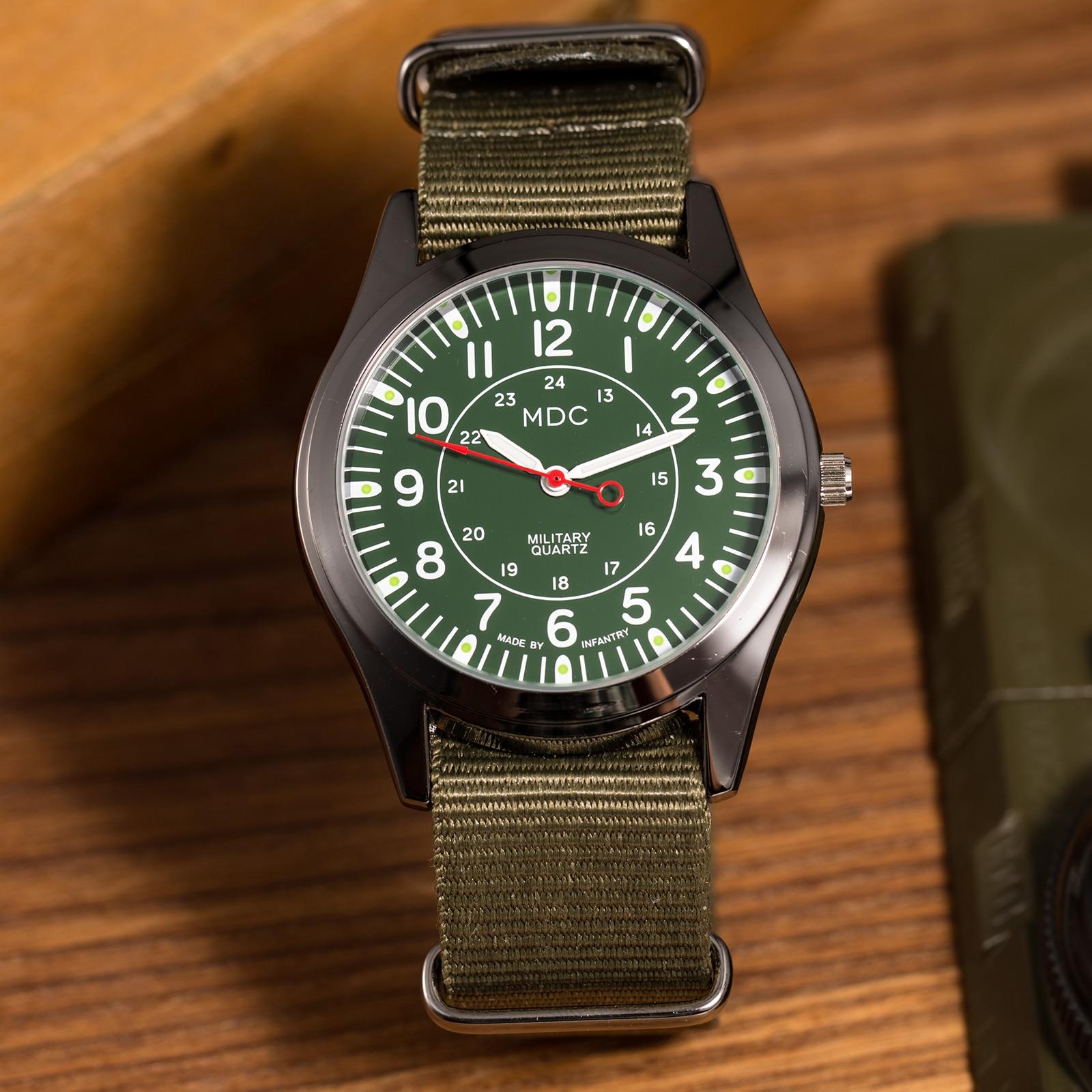 Mens Watches Top Brand Luxury 2020 MDC Military Quartz Watch For Men Luminous Thin Nato Strap Army Watch Men Relogio Masculino