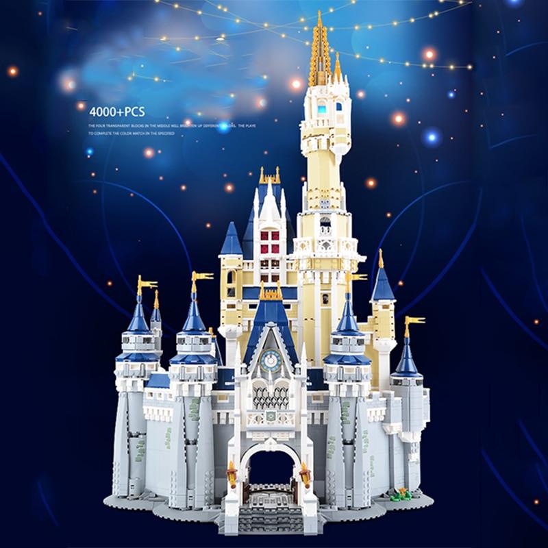 City Series Cinderella Princess Castle รุ่น Big House 4080Pcs ของเล่นสำหรับเด็ก Building Blocks ใช้งานร่วมกับชุด-ใน บล็อก จาก ของเล่นและงานอดิเรก บน   1