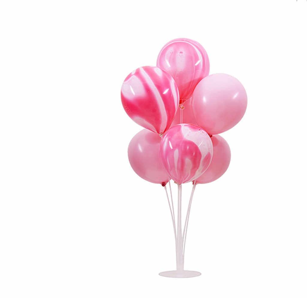 Tafel Drijvende Transparante Beugel Transparante Ballonnen Tafel Swingende Staaf Ballon Kolom Base Plastic Houder Ballon Accessoires