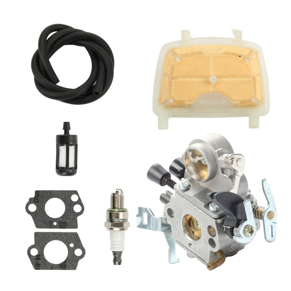 Carburetor Tune Up Kit Repair For Stihl MS171/MS181/MS211 ZAMA C1Q-S269 Chainsaw Gaskets Fuel Air Filter Line Spark Plug Kit