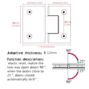 Image 3 - 180 Degree Clip Home Easy Install Glass Clamp Door Cabinet Showcase Clip Glass Shower Cupboard Furniture Hinge Replacement Parts