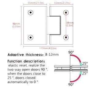 Image 3 - 180 grad Clip Hause Einfach Installieren Glas Clamp Tür Schrank Schaufenster Clip Glas Dusche Schrank Möbel Scharnier Ersatz Teile