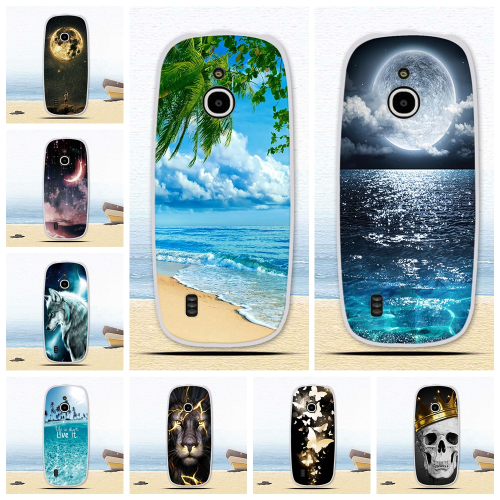 For <font><b>Nokia</b></font> <font><b>3310</b></font> <font><b>3G</b></font> 4G <font><b>Case</b></font> Soft Silicone Back Cover <font><b>Cases</b></font> Cartoon Painting Abstract Soft TPU Coque <font><b>Cases</b></font> Patterned Shell Coque image