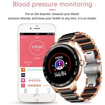LIGE 2020 New Men Smart Watch Blood Pressure Round Ceramic Strap Smartwatch Women Watch Waterproof Sport Tracker For Android Ios 2