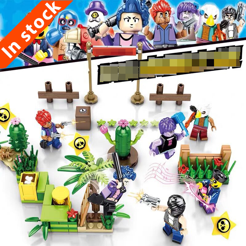 Brawl Starlyeds Movie Opened 257PCS Chaos Scene Battle Of Crystalys Building Block Children Assemble Educational Toys 1455