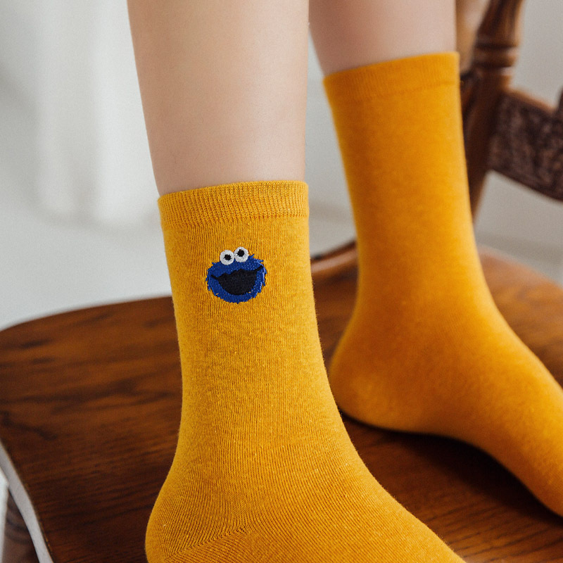 New Fashion Variety Cartoon Embroidery Cotton Women Socks Cute Amusing Animal Pattern Crew Socks High Quality Creative Socks