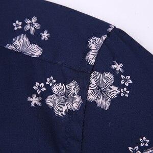 Image 3 - Männer Sommer Dünne Kurzarm Floral Bedruckte Shirts Komfortabel Taste unten Kragen Standard fit Casual Bluse Tops hemd