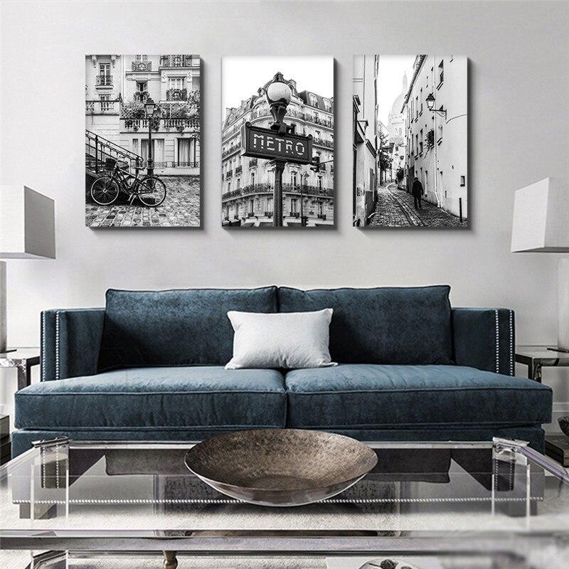 Купить парижская архитектура современная рамка настенная живопись для