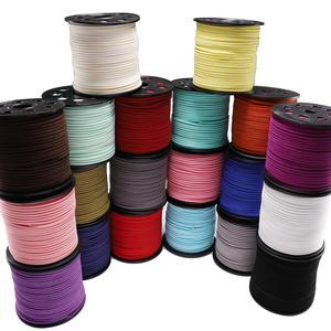 10 м/лот 2,5 мм плоский плетеный шнур из искусственной замши Корейская бархатная кожаная веревочная нить ручной работы для изготовления ювели...