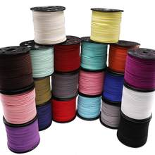 10m/lot 2.5 mm Flat Faux Suede Braided Cord Korean Velvet Leather Handmade Thread String Rope For DIY Jewelry Making Supplies(China)