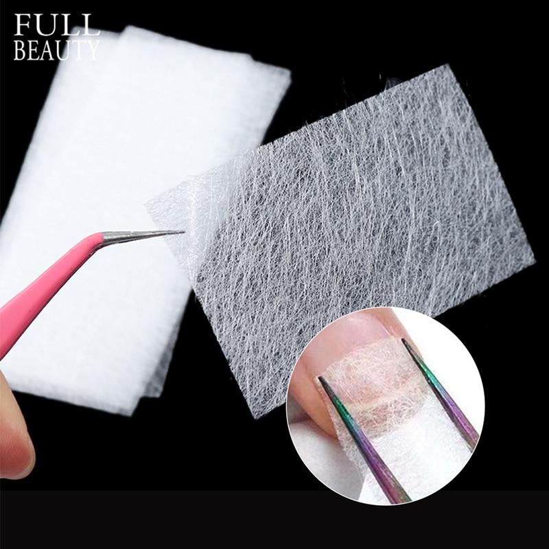 10pcs Silk Fiberglass For Nail Extension Form Non-Woven Silks UV Gel Building Fiber French Acrylic DIY Manicure Accessory CH1507