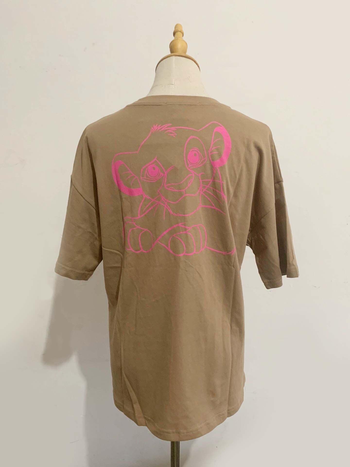 H30471bc92d7d44a7b5434c5f9d9866aeq Disney Family T-Shirt Fashion Winnie the Pooh Mickey Mouse Stitch Fairy Dumbo SIMBA Cartoon Print Women T-Shirt Cotton Tee s