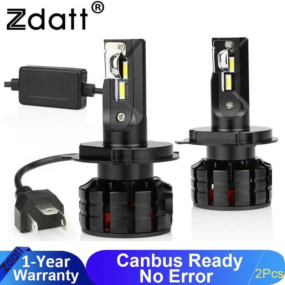 Zdatt H7 Led Light Bulbs H4 LED H11 HB3 9005 HB4 9006 Led Headlights Mini 100W 12000LM Car Light Bulbs Automobiles Auto Lamp