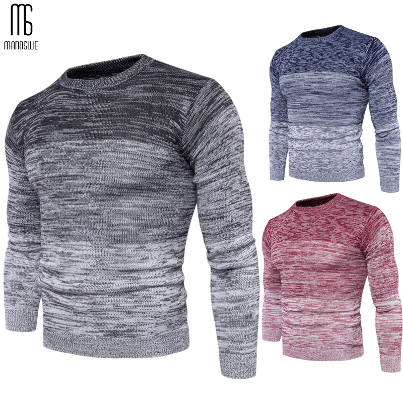 Manoswe Fashion Sweater Male Christmas Jumper Pullovers Warm Patchwork Sweater Fashion Long Sleeve Slim Tops Men Plus Size 3XL