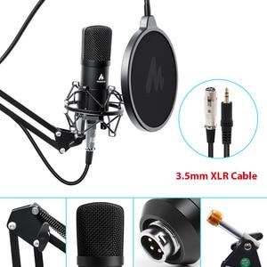 Image 4 - Maono microfone condensador profissional podcast studio microfone de áudio 3.5mm computador mic para youtube karaoke gravação jogos