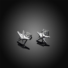 925 Sterling Silver Earrings Small Starfish Simple Jewelry Fashion For Women