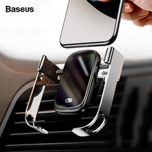 Baseus 10W Car Qi Wireless Charger For iPhone XS Max Samsung Xiaomi Car Phone Holder Intelligent Infrared Fast Wireless Charging