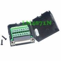 Tüketici Elektroniği'ten Pil Aksesuarları ve Şarj Aksesuarları'de DHL/EMS 10 ÇOK DB25 D SUB jack 26PIN port Terminali breakout PCB plastik kapak lehimsiz kablo d2