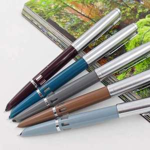 Image 5 - 2020 Model Wing Sung 601 Fountain Pen Steel Cap Vacumatic Double Bead Ink Pen Stationery Office school supplies Writing Gift