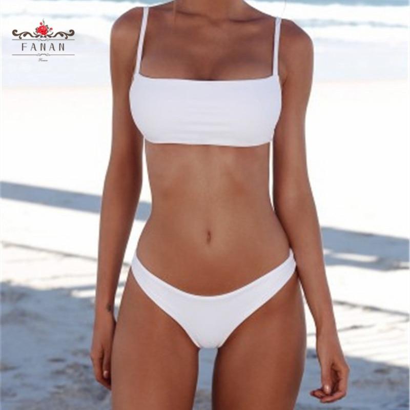 Bikini  Swimsuit Women Bathing Suit Summer Beachwear Pure Color Push Up Padded Swimsuit Women Bikini Summer Beachwear Fashion-3