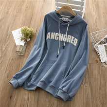New Hoodies Women Autumn 2019 Casual ins Fashion Letter Print Loose Pullover Cotton Sweatshirt Tops