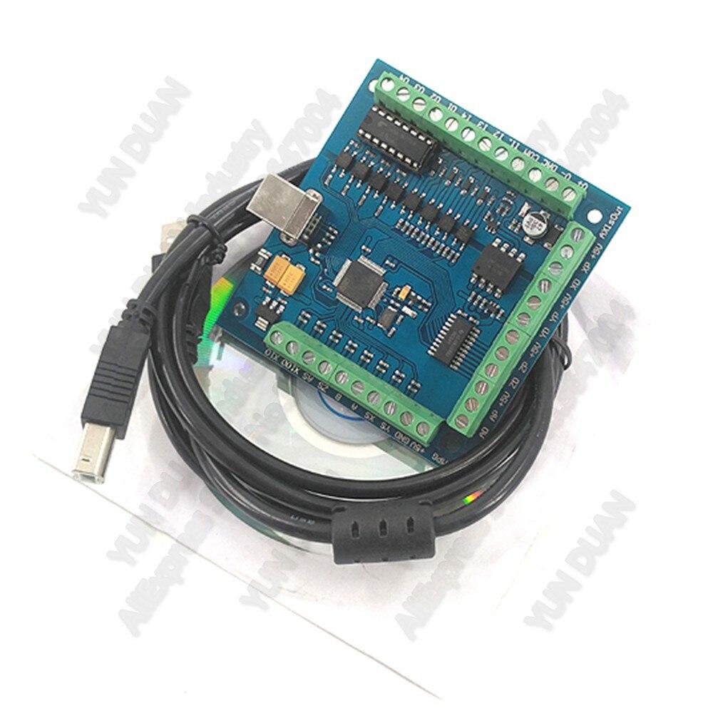 4 оси Mach3 USB ЧПУ контроллер движения сервопривод шаговый двигатель драйвер Breakout плата MPG карта для маршрутизатора гравировка ноутбук Настоль...