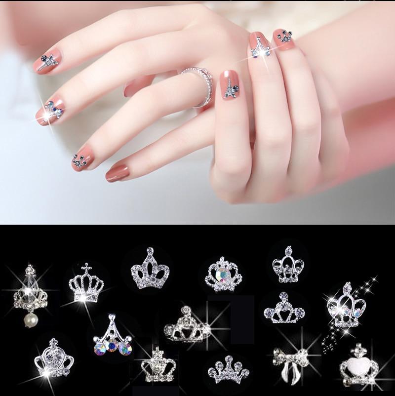 Купить 10 шт/упак nail художественные талисманы crown/bow стразы s