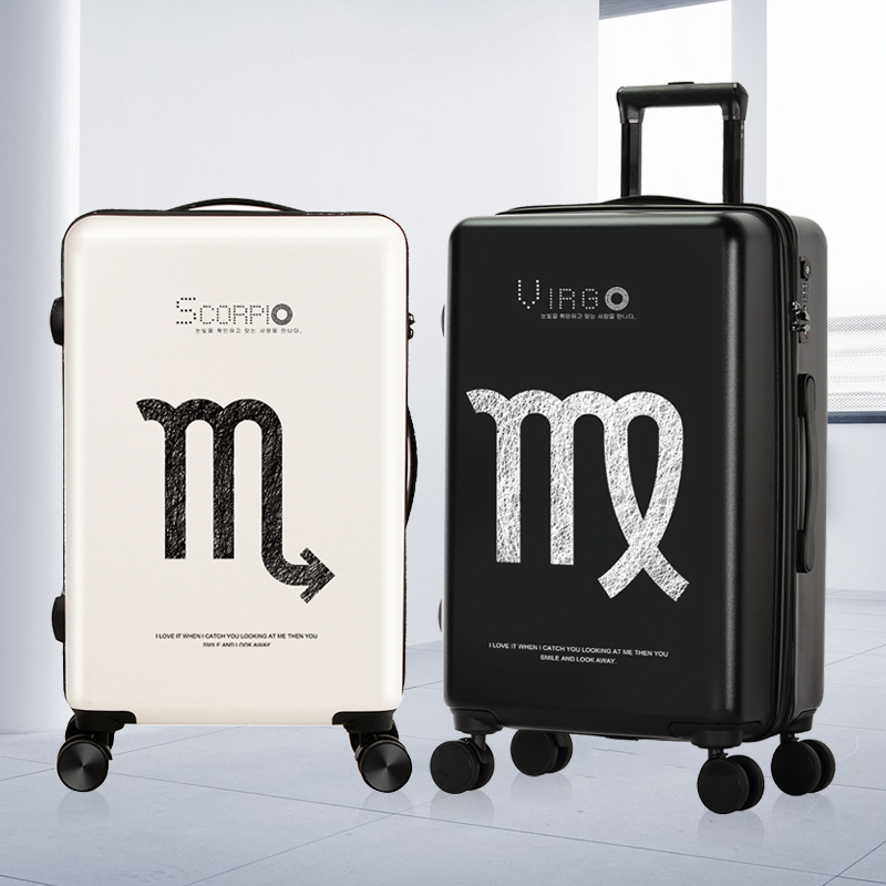 Luggage Set Fashion Constellation Spinner Carry On Luggage Bag Boarding Case Traveling Luggage Bags With Wheels Suitcase Unisex