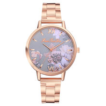 2019 Top Brand Woman Watches Stainless Steel Fashion Printed Casual Luxury Dial Quartz Wristwatch Relogio Feminino Clock Watch(China)