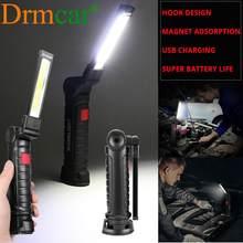 Trabalho automático barra de luz lanterna tocha usb ponto magnético dobrável luz lanternas pendurado gancho lâmpada acampamento ao ar livre tronco lâmpada 5 modo 35-5USD COMPRA5 99-12USD COMPRA12 249-30USD COMPRA30