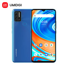 Umidigi a9 versão global smartphone android 11 helio g25 octa núcleo 3gb + 64gb 6.53