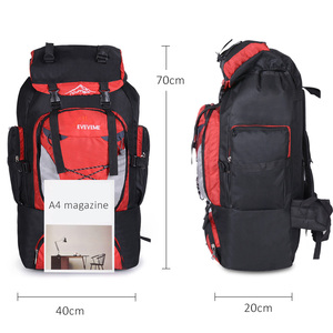 Image 2 - Mens 80L Big Hiking Mountaineering Backpack Climbing Hiking Backpack Camping Equipment Outdoor Fishing Bags Travel Accessories