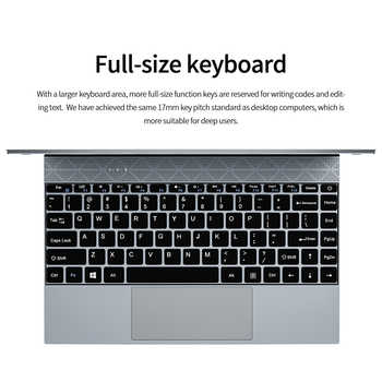 KUU 14.1 Inch 8GB DDR4 RAM 128G 256G SSD Windows 10 laptop Intel Celeron J4115 Processor Full Size Keyboard Student Notebook