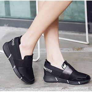 Image 4 - BANGJIAO kadınlar günlük mokasen ayakkabı nefes yaz düz ayakkabı kadın üzerinde kayma rahat ayakkabılar yeni Zapatillas Flats ayakkabı boyutu 35 40