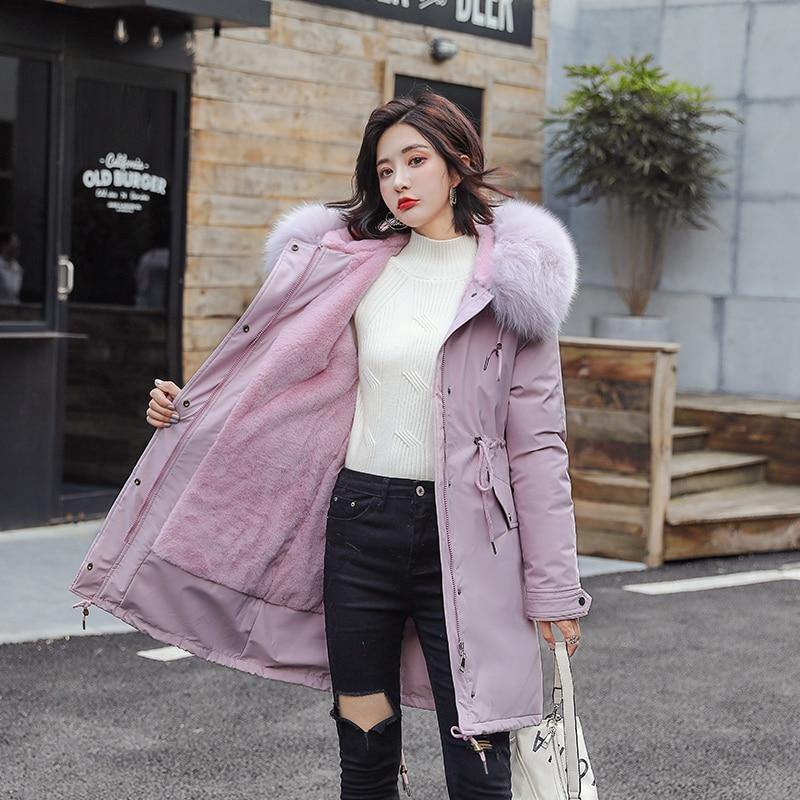 Faux Fox Fur Coat Female Jacket Winter Coat Women Jackets Fake Fur Coat Outerwear Warm Parka Women Veste Femme YY1972