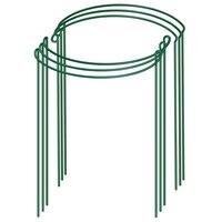 6 pçs planta haste de apoio, jardim metal planta suporte quadro, planta suporte anel, tomate planta suporte haste, aquático verde planta supp