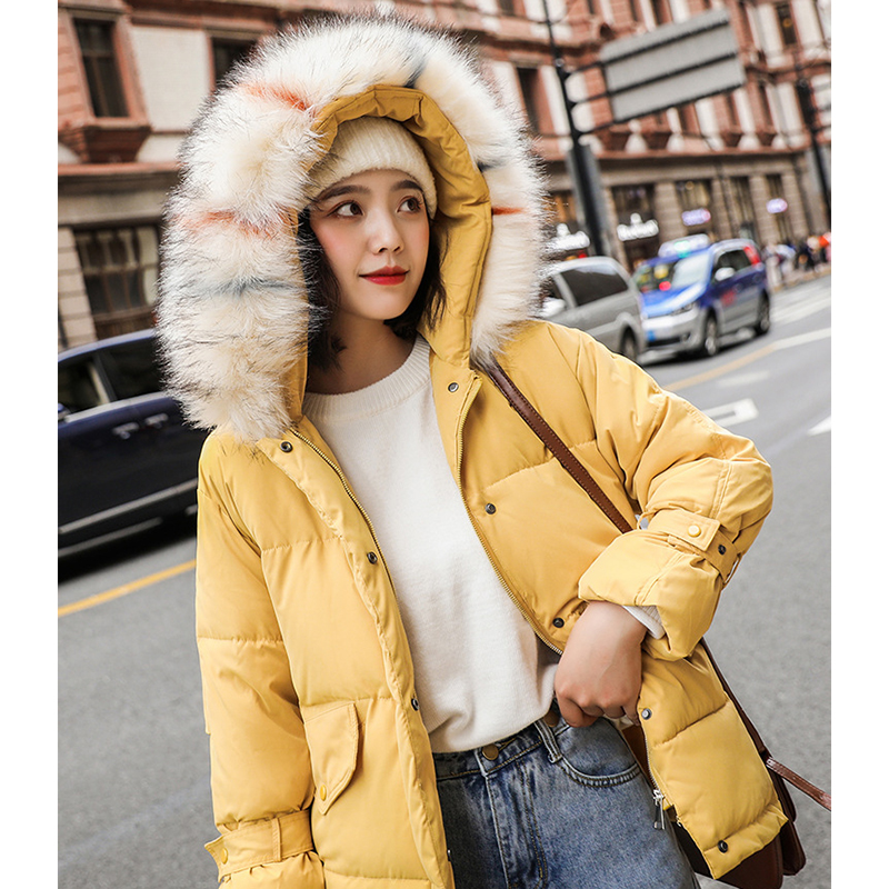 Women Winter Warm Parkas Jacket Female Autumn Hooded Cotton Fur Cap Plus Wool Basic Jacket Casual Loose Long Ladies Outwear