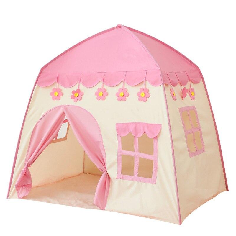 Bébé jouer maison pliant enfants tente grande chambre intérieur extérieur tente meilleur cadeau d'anniversaire rose